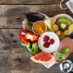 Nutritious food platter showing healthy diet