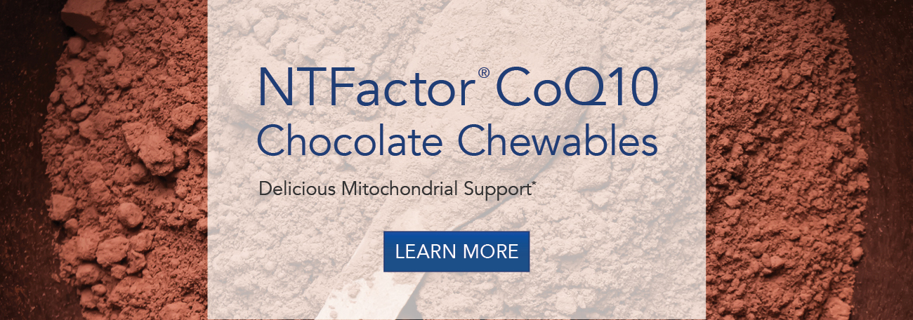 NTFactor� CoQ10 Chocolate Chewables 30 Chewable Wafers #77080