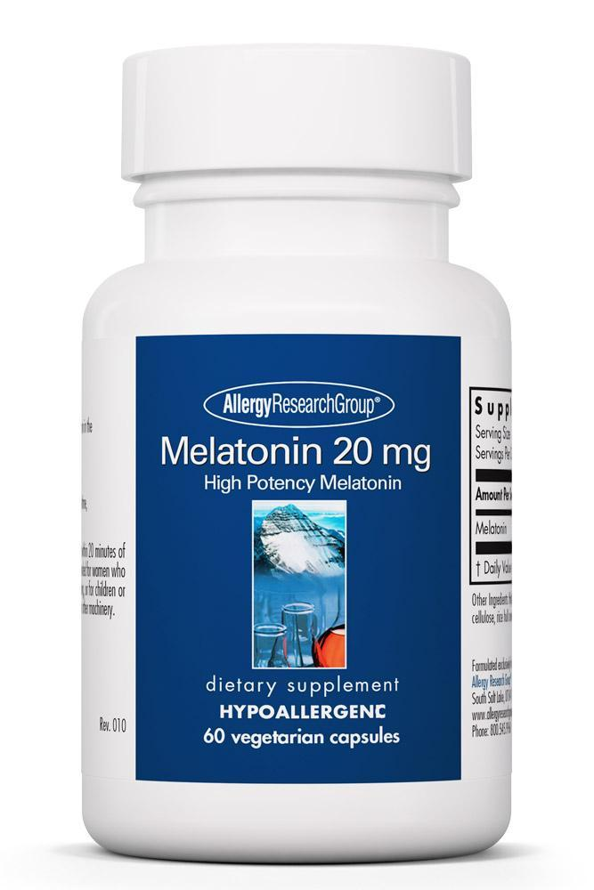 Melatonin 20 mg 60 Vegetarian Capsules