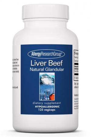 Liver Beef Natural Glandular 125 Vegicaps