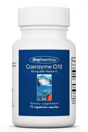 Coenzyme Q10 50 Mg with Vitamin C 75 Vegetarian Capsules
