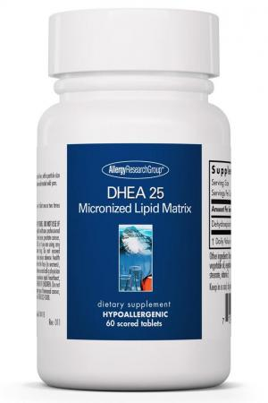 DHEA 25 mg Micronized Lipid Matrix 60 Scored Tablets