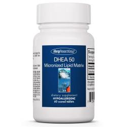 DHEA 50 mg Micronized Lipid Matrix 60 Scored Tablets